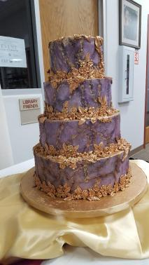 165 Cake Lavender and Gold